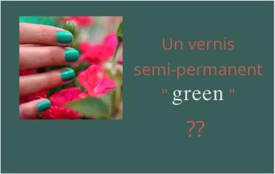 Vernis semi-permanent Green Flash Manucurist BOËME
