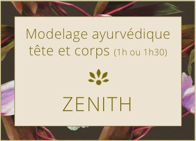 Bienfait ZENITH modelage ayurvédique