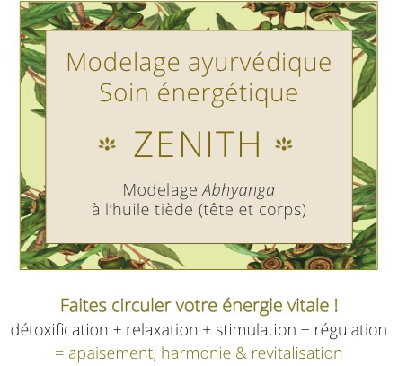 Bienfait ZENITH - Modelage ayurvédique Abhyanga